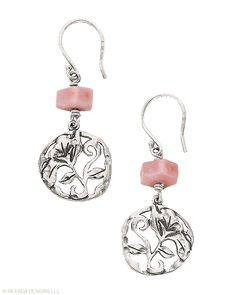 Sterling Silver & Pink Soapstone Earrings    $36    Embrace your softer side with these Sterling Silver and faceted Pink Soapstone Earrings.    Item Number: W2212  http://www.mysilpada.com/carolann.kaplan