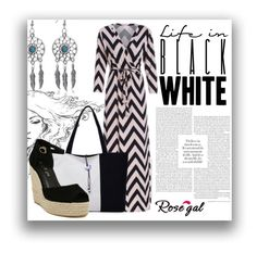 """Black and White #16"" by jaca-dramalija ❤ liked on Polyvore featuring shop and rosegal"