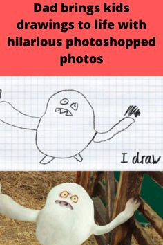"""How often have you looked at your child's doodles and thought """"what if real life looked like this?"""" Let's be honest, they're usually pretty crazy scribbles, squiggles and squaggles. But this London father saw something else in his kids, Dom and Al's, home drawings! He thought """"what if I could make this into real life?"""" Tom Curtis used his incredible photoshop skills to turn his children's drawings into real life """"what-ifs"""" and the internet exploded over it! Let's check out some of his best…"""