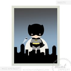 Batman Superhero Wall Print for Boys Room , 8x10 inches , Black and Yellow Superhero Printable Art , Instant Download door MintImprint op Etsy https://www.etsy.com/nl/listing/202435459/batman-superhero-wall-print-for-boys