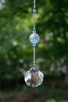 Shop for swarovski on Etsy, the place to express your creativity through the buying and selling of handmade and vintage goods. Crystals And Gemstones, Stones And Crystals, Crystal Beads, Swarovski Crystals, Mobiles, Crystal Mobile, Diy Wind Chimes, Hanging Crystals, Beaded Ornaments