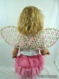 Free Crochet Pattern - Tattered Angel Wings