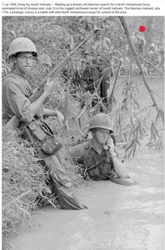U.S. Marine search for North Vietnamese forces in northwest corner of South Vietnam near Dong Ha. July 7th, 1966 ~ Vietnam War