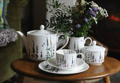 Floral-inspired tableware from Tea with Bea