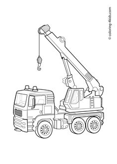 Tons of coloring pages for kids. Lots of construction trucks, vehicles, etc. Hoisting crane