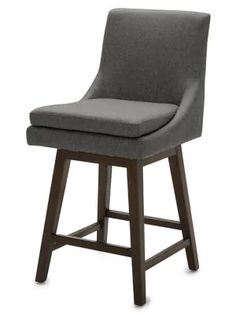 Distinctly Home Callie Swivel Counter Stool - Dark Grey
