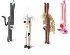 Our gallery of clothespin people for you to make. Craft Stick Crafts, Craft Kits, Fun Crafts, Arts And Crafts, Craft Sticks, Christmas Crafts For Kids To Make, Holiday Crafts, Crafts To Make, Horse Crafts