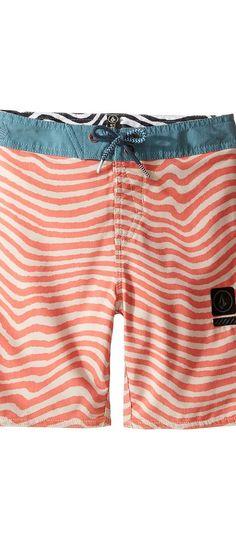 Volcom Kids Mag Vibes Slinger Boardshorts (Toddler/Little Kids) (Papaya) Boy's Swimwear - Volcom Kids, Mag Vibes Slinger Boardshorts (Toddler/Little Kids), Y0811717-PAY, Apparel Bottom Swimwear, Swimwear, Bottom, Apparel, Clothes Clothing, Gift, - Fashion Ideas To Inspire