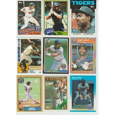 Huge 25 Different CHET Lemon cards lot 1981 - 1991 White Sox Tigers Topps Big Listing in the 1980-1989,Sets,MLB,Baseball,Sports Cards,Sport Memorabilia & Cards Category on eBid United States | 148006321