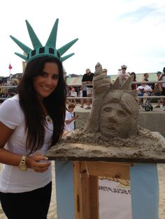 Miss Liberty Tax sand sculpture contest at the Neptune Festival 2012.