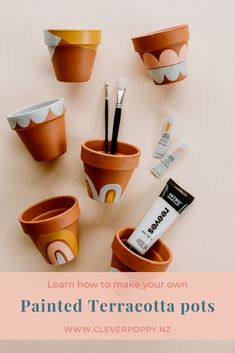 These Painted Terracotta Pots make a cute DIY Gift! — Clever Poppy