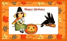 Our Free Printable Halloween Birthday Cards will be a great surprise for someone who shares October 31st with the world.  Make them feel extra special with a card you created just for them.  We supply the card front and then you add the sentiments.  Have fun!