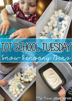 Tot School Tuesday: SNOW sensory ideas for your toddler or preschooler {from Mrs. Plemons' Kindergarten}