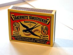 match matches matchstick matchsticks box swallow sweden swedish