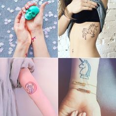 21 Tatouages Pour les Fans Incontestées de Licornes