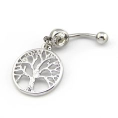 316L Surgical Steel 14G Clear Crystal Silver Color Tree of Life Dangle Navel Ring Belly Bar Button BodyArt,http://www.amazon.com/dp/B00GSPK5CE/ref=cm_sw_r_pi_dp_B71Ysb19KNZFX3E4