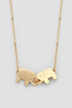 Locked in Love Ellie Necklace in Gold