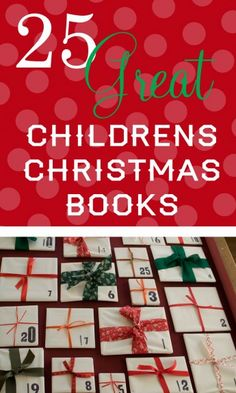 25 Great Children's Christmas Books... Wrap a book for each night... Kids open one book a night to read!