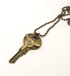 Vintage Key Necklace Upcycled Vintage Old Key Jewelry Recycled Vintage Necklace Steampunk Bullet Necklace One of a Kind Gift for Her by FickleFoxDesigns on Etsy https://www.etsy.com/listing/251919445/vintage-key-necklace-upcycled-vintage