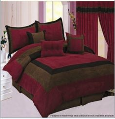 Procida Black And Burgundy Bedding Collection | Bedrooms, Purple Bedrooms  And Bedroom Remodeling Photo Gallery