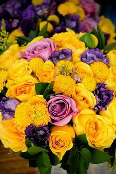 Purple and yellow flower arrangements bridal purple yellow purple and yellow flower arrangements bridal purple yellow bouquet flower arrangements purple yellow bouquet pinterest yellow flower mightylinksfo