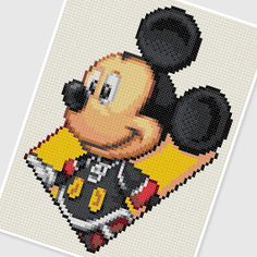 PDF Cross Stitch pattern 0248.Micky (Disney) by PDFcrossstitch on Etsy