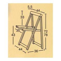 Картинки по запросу medidas de una silla plegable de madera