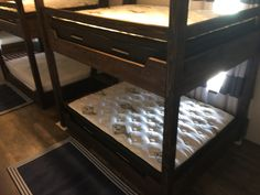 Full bunk room at the lake. Twin Full Bunk Bed, Adult Bunk Beds, Custom Bunk Beds, Custom Built Homes, Entryway Tables, Country, Luxury, Room, Furniture