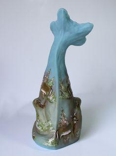 Fenton Art Glass Ocean Blue DEER ALLEY CAT GSE Ltd Ed #10/15 Signed JK SPINDLER | eBay Alley Cat, Glass Figurines, Fenton Glass, Glass Art, Ebay, Cats, Blue, Decor, Gatos