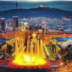 La fontaine magique à Montjuic - Barcelone