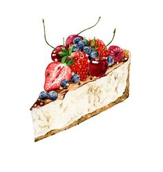 desserts on Behance Dessert Illustration, Illustration Noel, Watercolor Illustration, Cupcakes, Grafic Design, Desserts Drawing, Cute Food Art, Food Sketch, Watercolor Food
