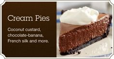 Cream Pies Recipe Collection at Cooking.com