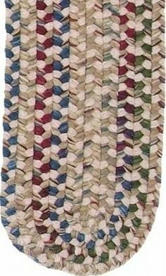 "13pc Braided Rug Stair Treads Oatmeal 8"" x 2' 4"" Oval . $183.20"