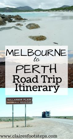 Check out this awesome Melbourne to Perth drive itinerary, which is one of the best road trips in Australia. It takes you from the busy capital of Victoria, through South Australia, over the Nullarbor Plain, through some amazing beaches in South West Australia such as those in the town of Esperance and finally up to the capital of Western Australia - the most isolated capital city in the world. #roadtrip #melbournetoperth #australia