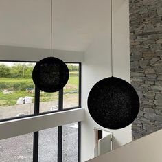Giant globe lamps! 🖤🖤 Globe Pendant Light, Modern Pendant Light, Pendant Lamp, Pendant Lighting, Ceiling Fixtures, Ceiling Lights, Globe Lamps, Handmade Lamps, Electrical Components