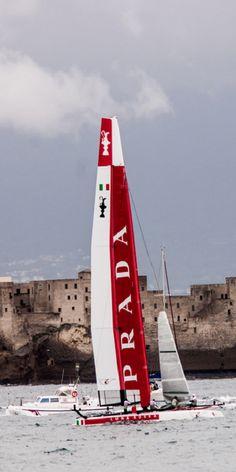 Napoli - Americas Cup 2012.  A Prada boat!