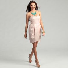 pretty soft pink, with a sweetheart neckline :)