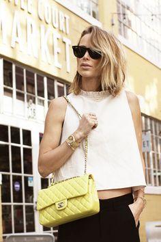 Black, White & little Chanel bag.