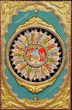 Mysore Painting, Tanjore Painting, Krishna Painting, Pichwai Paintings, Mural Painting, Indian Paintings, Krishna Statue, Krishna Art, Lord Krishna