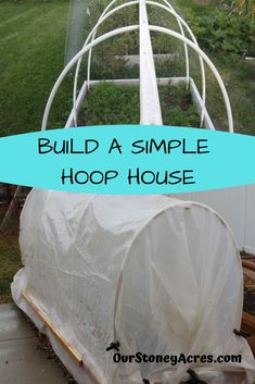 Learn how to build a simple hoop house on an existing raised bed. A hoop house will help you extend your gardening season. When To Plant Vegetables, Planting Vegetables, Growing Vegetables, Raised House, Raised Garden Beds, Raised Beds, Organic Gardening, Gardening Tips, Organic Farming