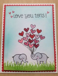 Love You Tons Card by CraftyDesignsShop on Etsy