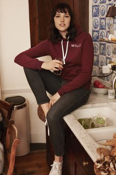 The Haslemere hoodie - it's your favourite for a reason. This season it comes in shades of navy, charcoal, damson and dusky pink, with a choice of graphics on the front and back .