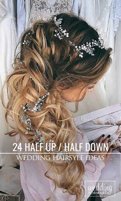 24 Stunning Half Up Half Down Wedding Hairstyles ❤ These elegant curly half up/half down hairstyles look amazing with hair accessories or on their own. See more: http://www.weddingforward.com/half-up-half-down-wedding-hairstyles-ideas/ #wedding #hairstyles Photo: UlyanaAster via Instagram https://www.instagram.com/p/BB2uZ03Hety/
