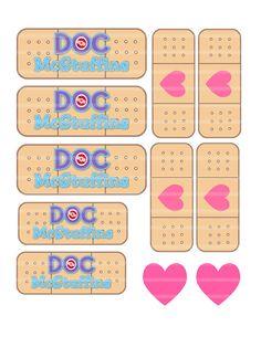 Doc McStuffins Mc Stuffins Birthday Bandaids Band Aid Printable DIY Digital 150