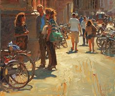 """A Day in the Haag"" 20"" x 24"" Oil, Kim English"