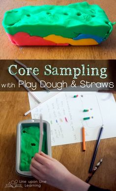 The Play Dough Way to Learn about Core Sampling | Line upon Line Learning Preschool Science, Elementary Science, Science Classroom, Science Education, Teaching Science, Earth Science Activities, Earth Science Lessons, Physical Science, Teaching Ideas