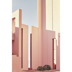 Nacho Alegre Captures Views of Ricardo Bofill's La Muralla Roja ❤ liked on Polyvore featuring backgrounds and pictures