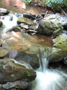 water flowing...