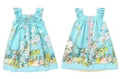 Mi Mi Sol Spring Summer 2014, blue cotton popeline dress
