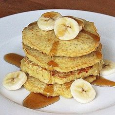 Healthy recipe for oatmeal pancakes. PIN